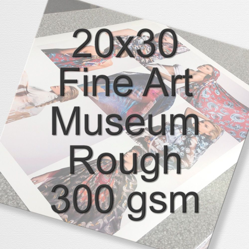 20x30 Fine Art Museum Rough 300 gsm