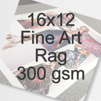 16x12 Fine Art Rag 300 gsm