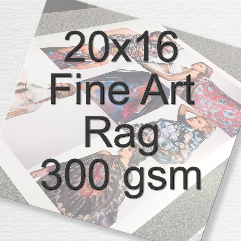 20x16 Fine Art Rag 300 gsm