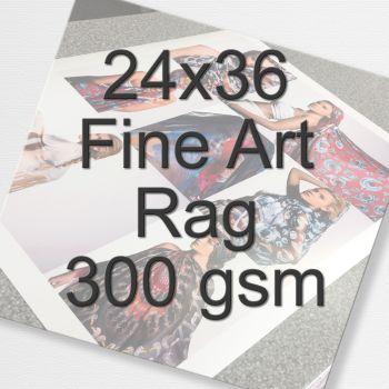 24x36 Fine Art Rag 300 gsm
