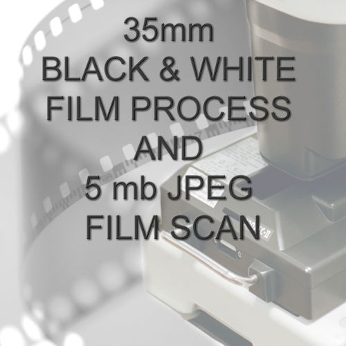 35mm BLACK & WHITE FILM PROCESS AND 5 mb JPEG FILM SCAN