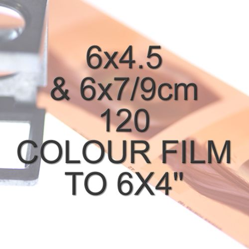 6x4.5 & 6x7/9cm 120 COLOUR FILM TO 6X4