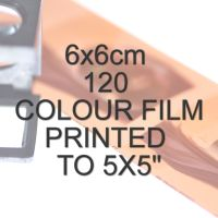6x6cm 120 COLOUR FILM TO 5X5""