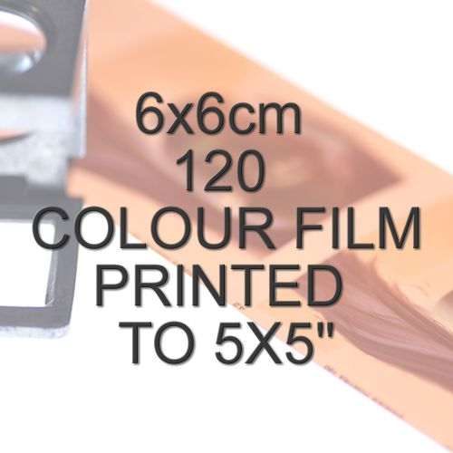 6x6cm 120 COLOUR FILM TO 5X5