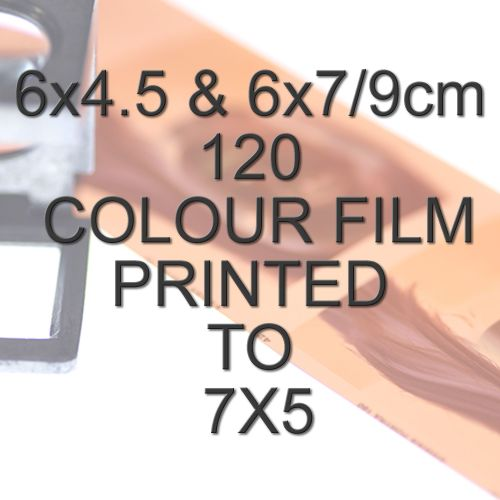 6x4.5 & 6x7/9cm 120 COLOUR FILM TO 7X5