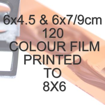6x4.5 & 6x7/9cm 120 COLOUR FILM TO 8X6""