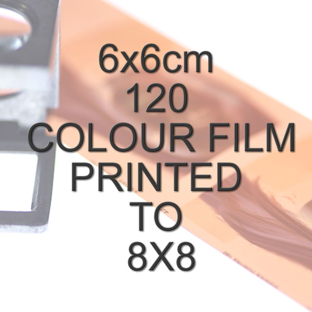 6x6cm 120 COLOUR FILM TO 8X8