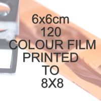 6x6cm 120 COLOUR FILM TO 8X8""