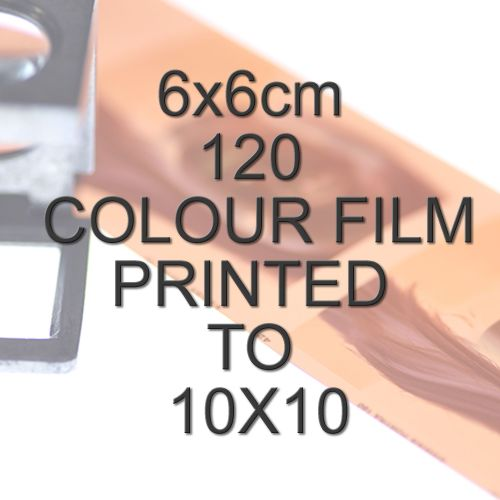 6x6cm 120 COLOUR FILM TO 10X10