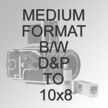 "MEDIUM FORMAT B/W D&P TO 10X8"""