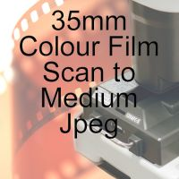 35mm COLOUR FILM PROCESS AND MEDIUM JPEG SCAN