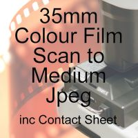 35mm COLOUR FILM PROCESS AND MEDIUM JPEG SCAN INCLUDING CONTACT