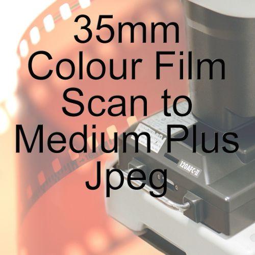 35mm COLOUR FILM PROCESS AND MEDIUM PLUS JPEG SCAN