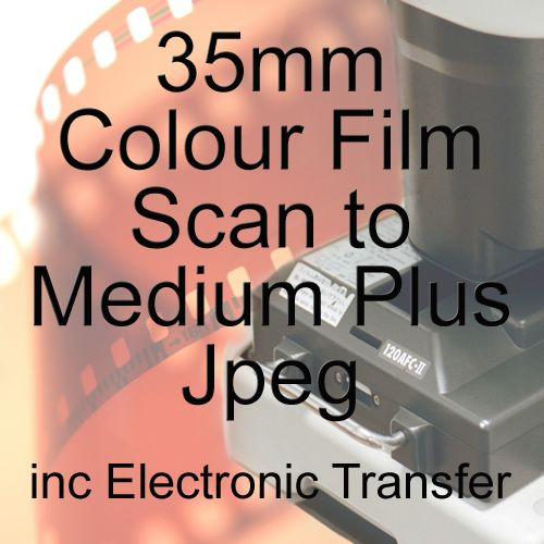 35mm COLOUR FILM PROCESS AND MEDIUM PLUS JPEG SCAN INCLUDING ELECTRONIC SEN