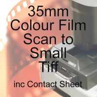 35mm COLOUR FILM PROCESS AND SMALL TIFF SCAN INC CONTACT SHEET