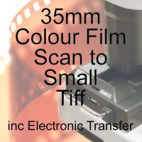 35mm COLOUR FILM PROCESS AND SMALL TIFF SCAN INC ELECTRONIC TRANSFER