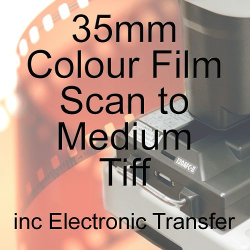 35mm COLOUR FILM PROCESS AND MEDIUM TIFF SCAN WITH ELECTRONIC SEND