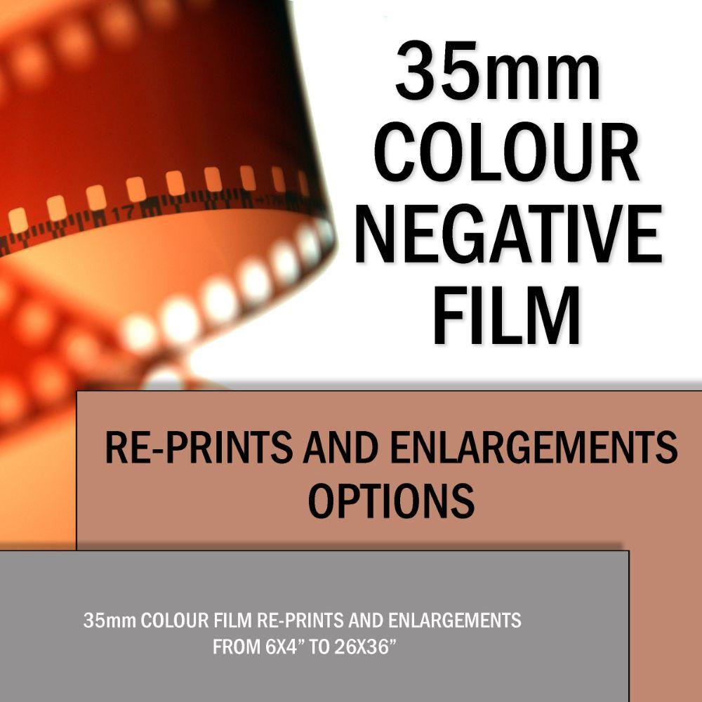 35mm COLOUR RE-PRINTS & ENLRGEMENTS