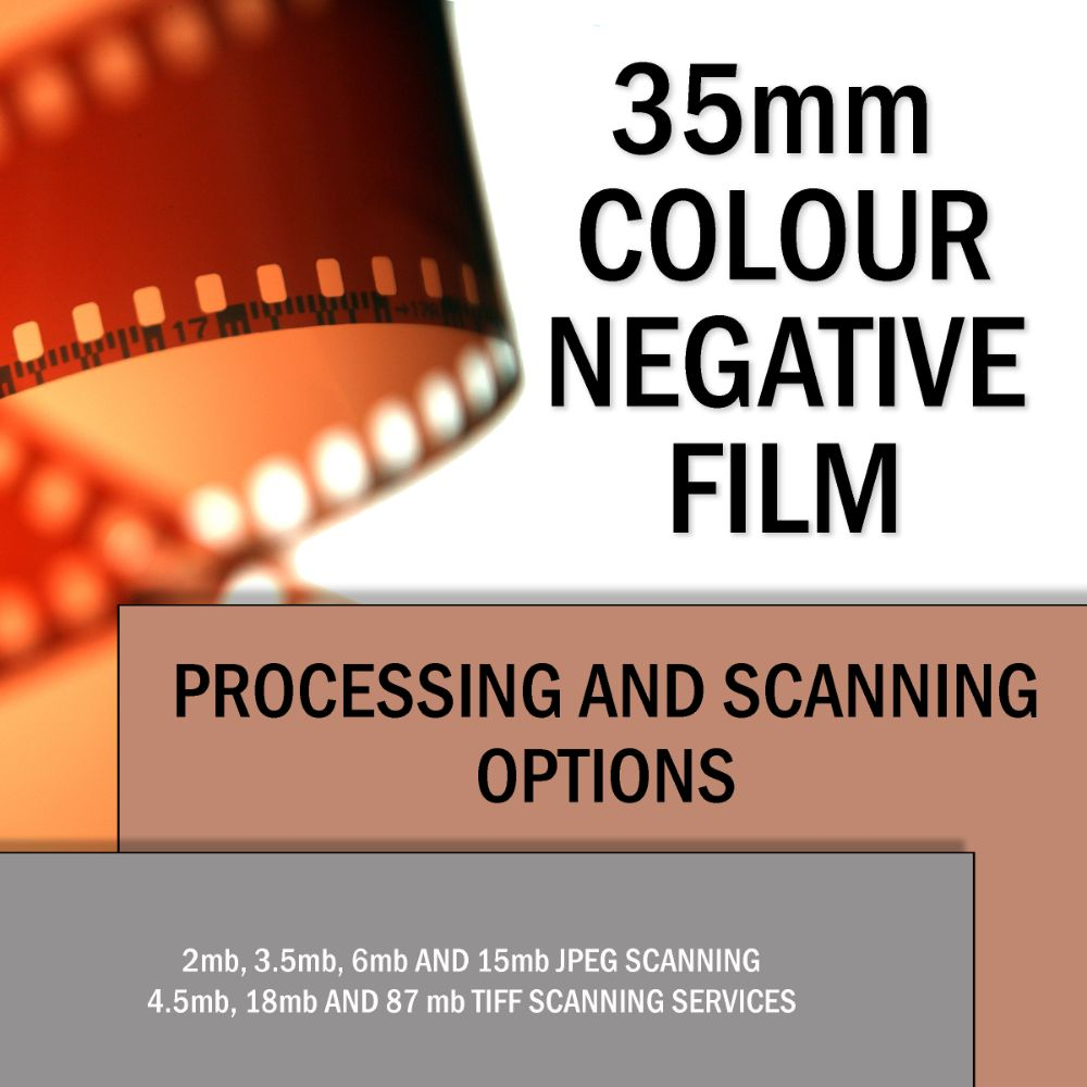 35mm COLOUR FILM PROCESSING & SCANNING SERVICES