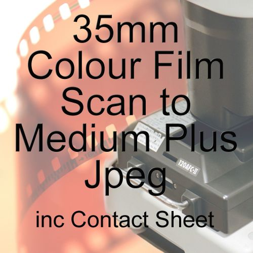 35mm COLOUR FILM PROCESS AND MEDIUM PLUS JPEG SCAN INC CONTACT SHEET