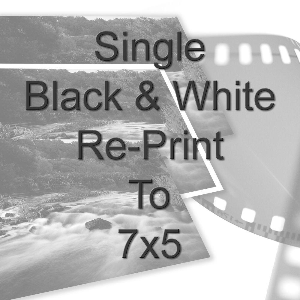 "SINGLE 7X5"" BLACK AND WHITE PRINT"