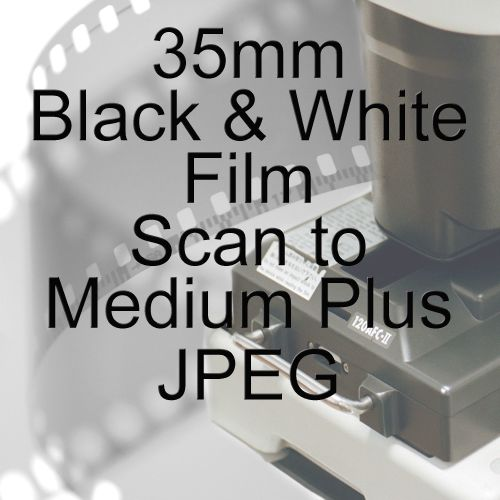 35mm BLACK & WHITE FILM PROCESS AND MEDIUM PLUS JPEG SCAN