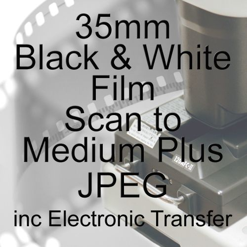 35mm BLACK & WHITE FILM PROCESS AND MEDIUM PLUS JPEG SCAN INCLUDING ELECTRO