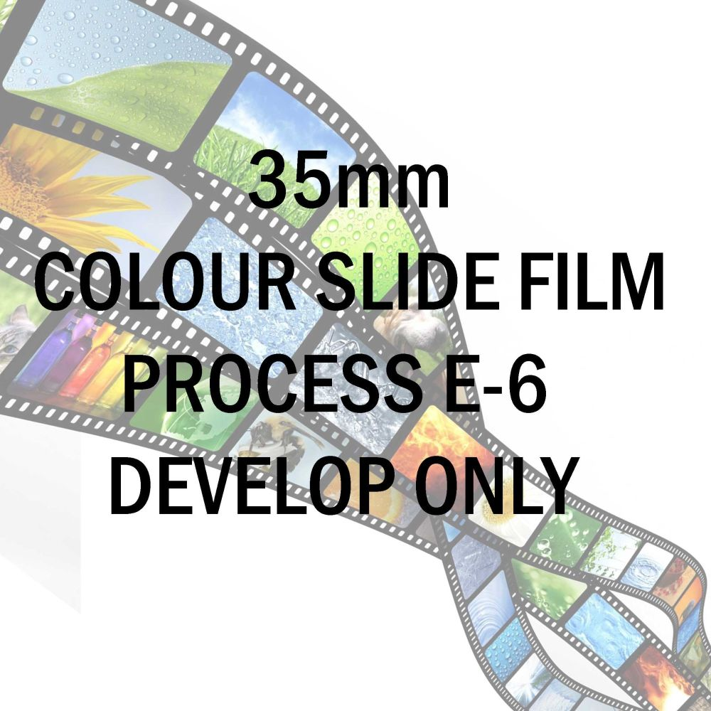 35mm COLOUR SLIDE FILM PROCESS E-6  DEVELOP ONLY