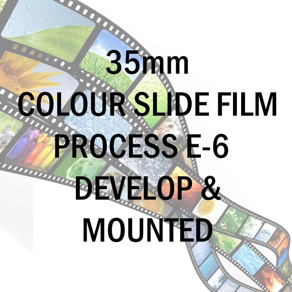 35mm COLOUR SLIDE FILM PROCESS E-6  DEVELOP AND MOUNTED