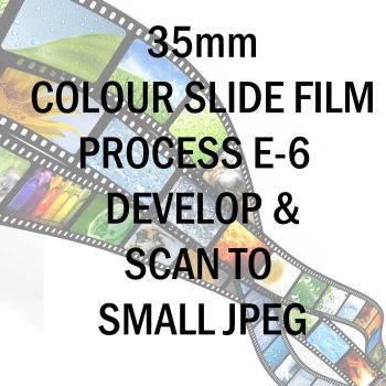 35mm COLOUR SLIDE FILM E-6 DEVELOP AND SCAN TO SMALL JPEG