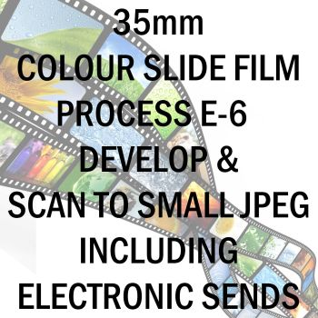 35mm COLOUR SLIDE FILM E-6 DEVELOP AND SCAN TO SMALL JPEG C-D INCLUDING ELECTRONIC TRANSFER TO EMAIL ADDRESS