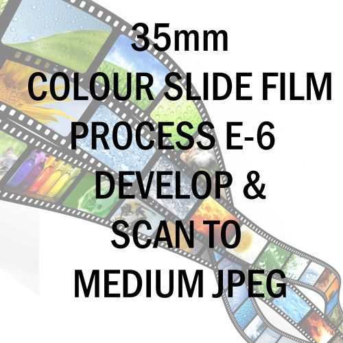 35mm COLOUR SLIDE FILM E-6 DEVELOP AND SCAN TO MEDIUM PER FRAME JPEG C-D