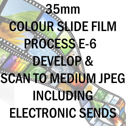 35mm COLOUR SLIDE FILM E-6 DEVELOP AND SCAN TO MEDIUM JPEG C-D INCLUDING EL