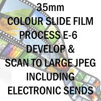 35mm COLOUR SLIDE FILM E-6 DEVELOP AND SCAN TO LARGE JPEG C-D INCLUDING ELECTRONIC TRANSFER TO EMAIL ADDRESS