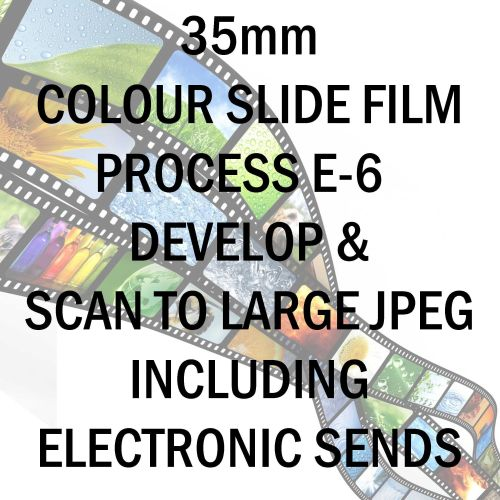 35mm COLOUR SLIDE FILM E-6 DEVELOP AND SCAN TO LARGE JPEG C-D INCLUDING ELE