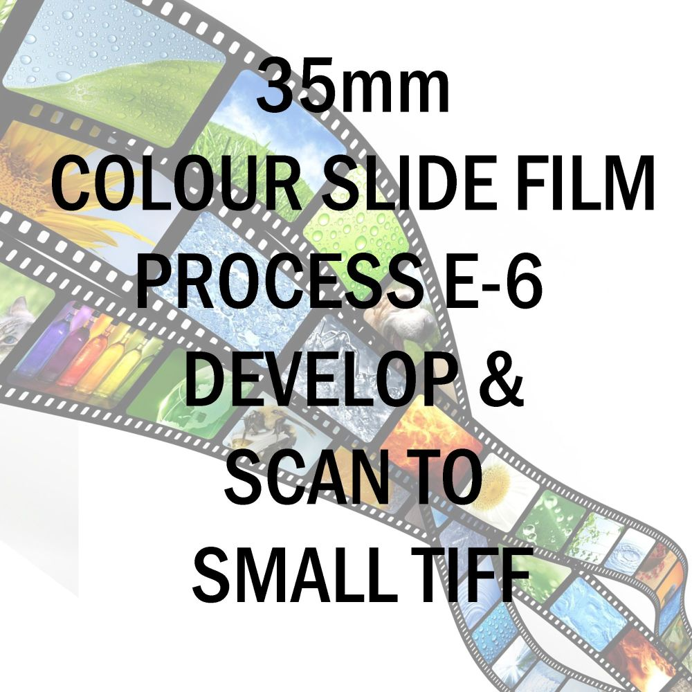 35mm COLOUR SLIDE FILM E-6 DEVELOP AND SCAN TO SMALL TIFF C-D