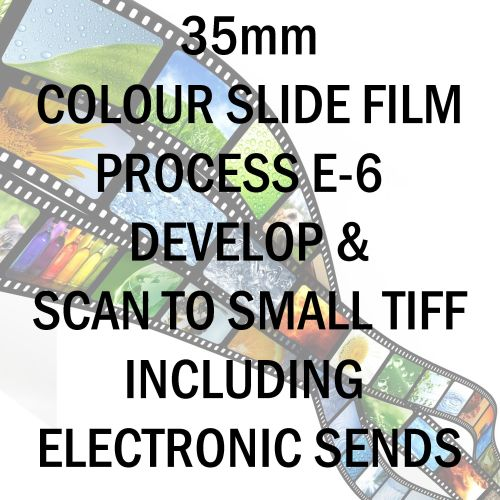 35mm COLOUR SLIDE FILM E-6 DEVELOP AND SCAN TO SMALL TIFF C-D INCLUDING ELE