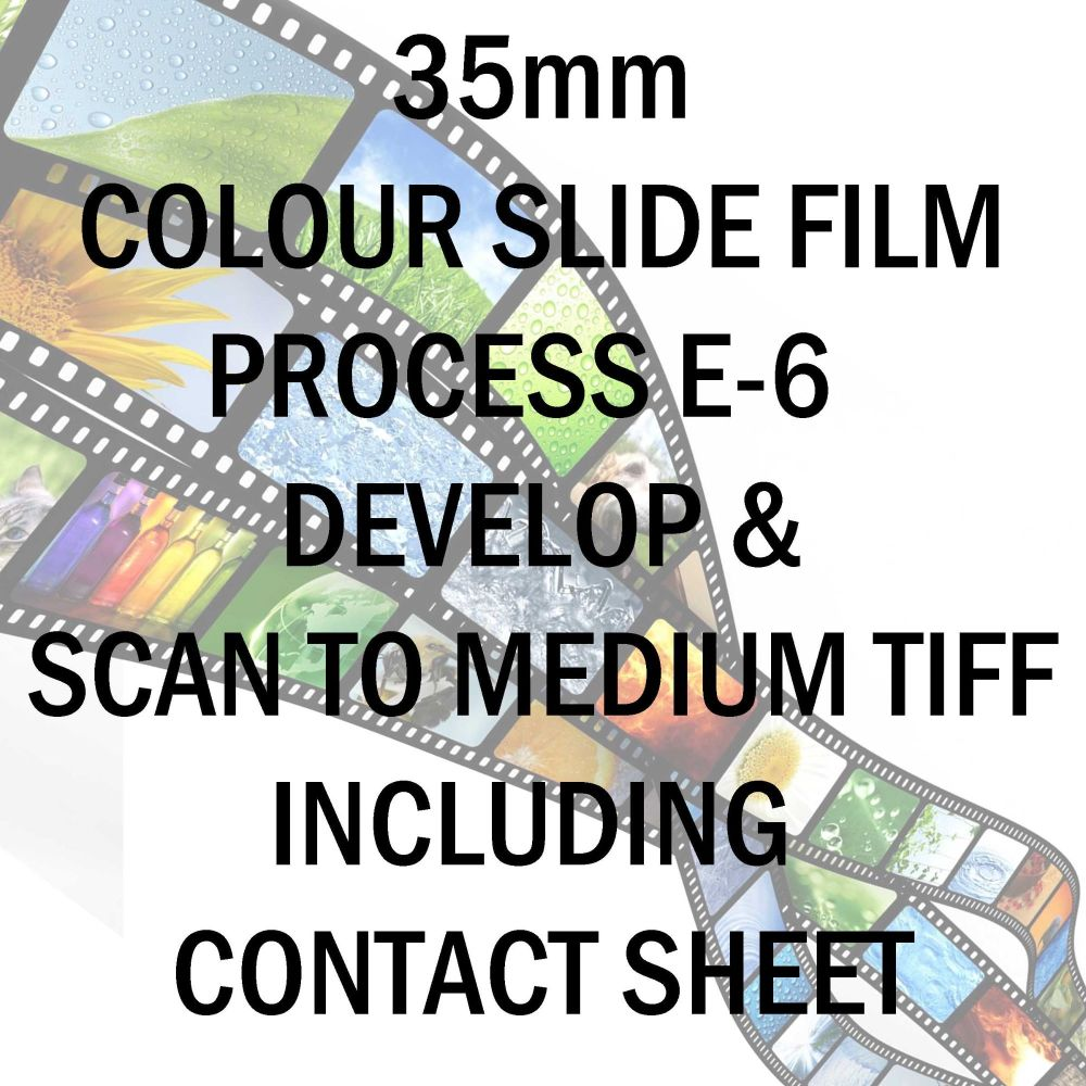 35mm COLOUR SLIDE FILM E-6 DEVELOP AND SCAN TO MEDIUM TIFF C-D INC 10X8 CONTACT SHEET