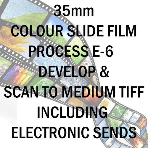 35mm COLOUR SLIDE FILM E-6 DEVELOP AND SCAN TO MEDIUM TIFF C-D INCLUDING EL