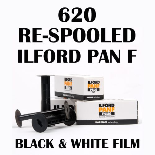 RE-SPOOLED 620 ILFORD PAN F BLACK AND WHITE FILM