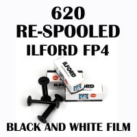 RE-SPOOLED 620 ILFORD FP4 BLACK AND WHITE FILM