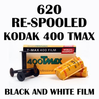 RE-SPOOLED 620 KODAK TMAX 400 BLACK & WHITE FILM