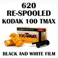 RE-SPOOLED 620 KODAK TMAX 100 BLACK & WHITE FILM