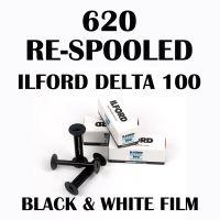 RE-SPOOLED 620 ILFORD DELTA 100 BLACK AND WHITE FILM