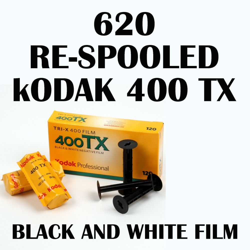 620 RE SPOOLED KODAK TRI X BLACK & WHITE FILM