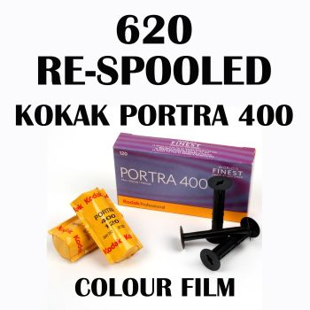 620 RE SPOOLED KODAK PORTRA 400 COLOUR