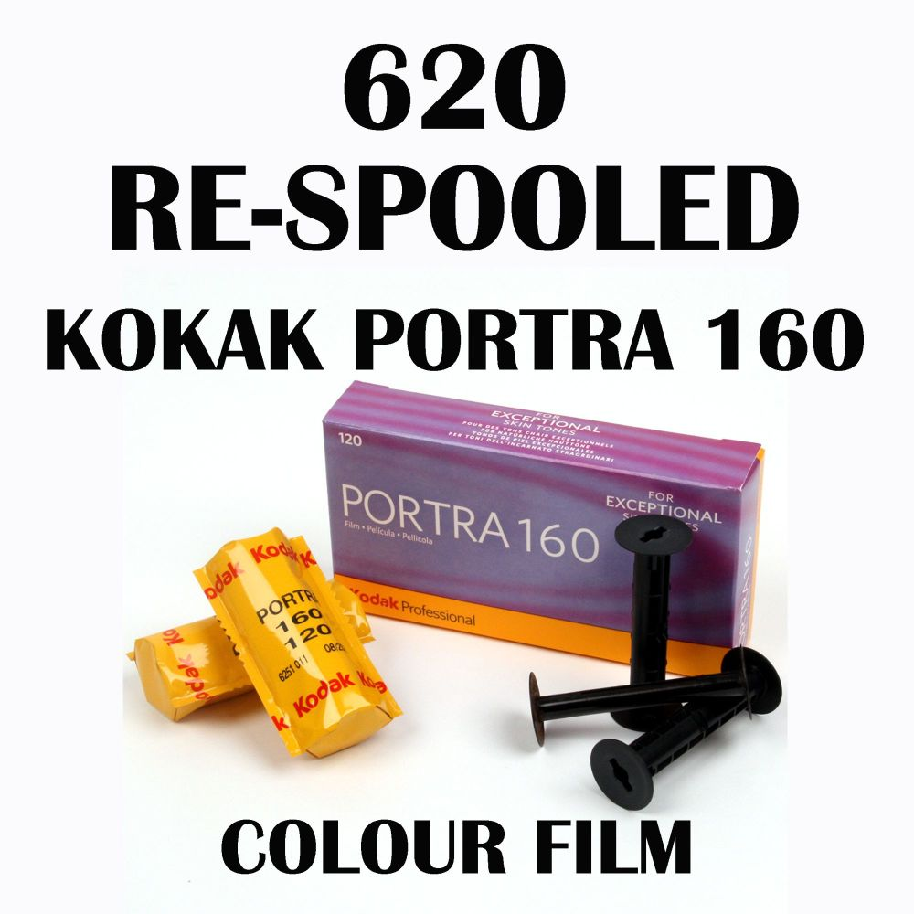 620 RE SPOOLED KODAK PORTRA 160 COLOUR FILM