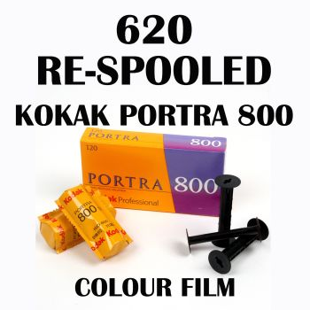 620 RE SPOOLED KODAK PORTRA 800 COLOUR FILM