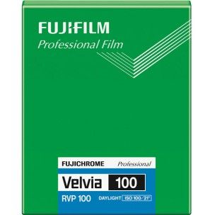 FUJI VELVIA 100 5X4 20 SHEETS SLIDE FILM