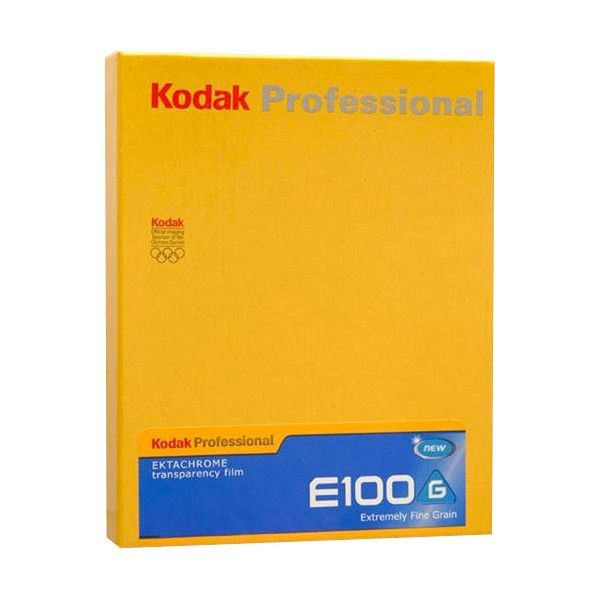KODAK EKTACHROME 100 5X4 10 SHEETS SLIDE FILM